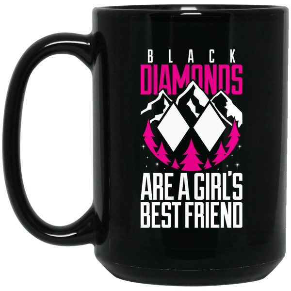 Black Diamonds Are A Girls Best Friend Mug