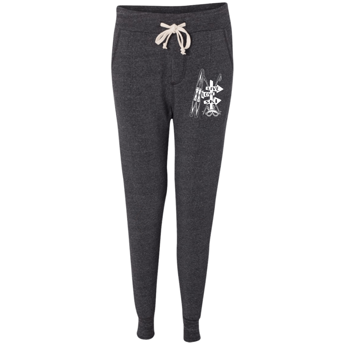 Live Love Ski Women's Adult Fleece Jogger - Powderaddicts
