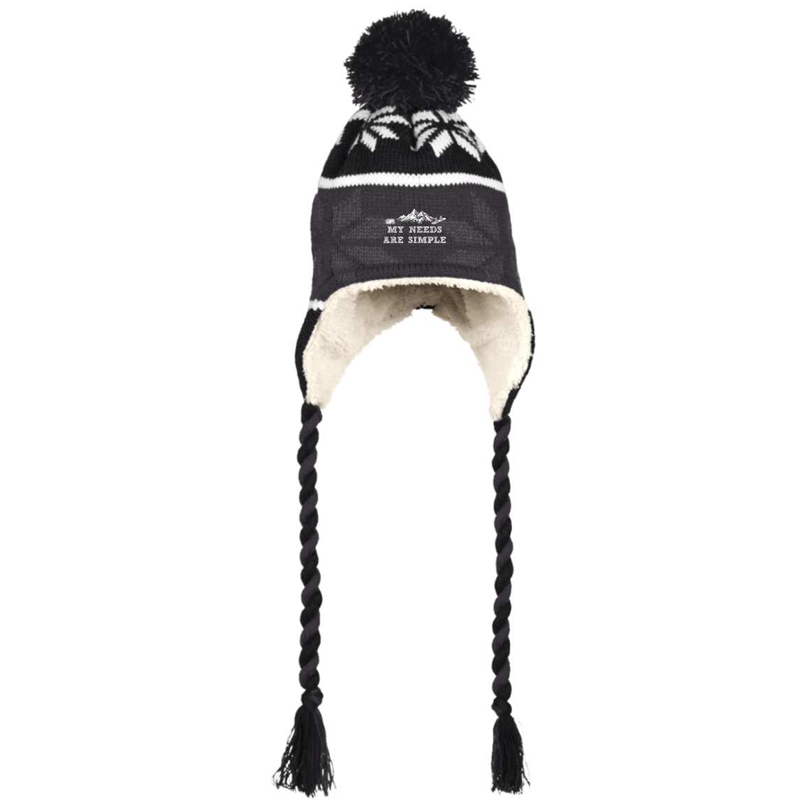 My Needs Are Simple Snowboard Peruvian Hat - Powderaddicts
