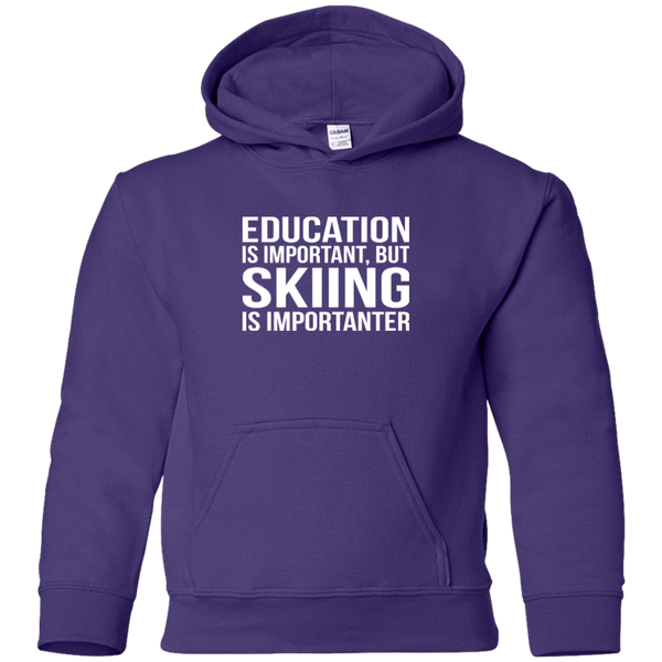 Education Is Important But Skiing Is Importanter Youth Hoodies