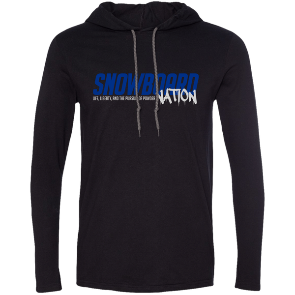 Snowboard Nation (Blue) Hoodies