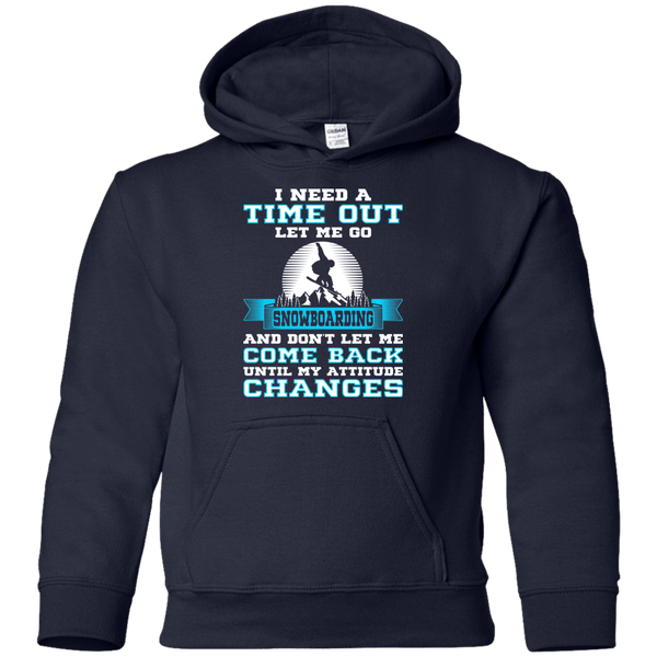 I Need A Time Out To Go Snowboarding Youth Shirt and Hoodies