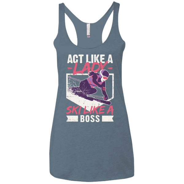 Act Like A Lady Ladies' Tank Tops