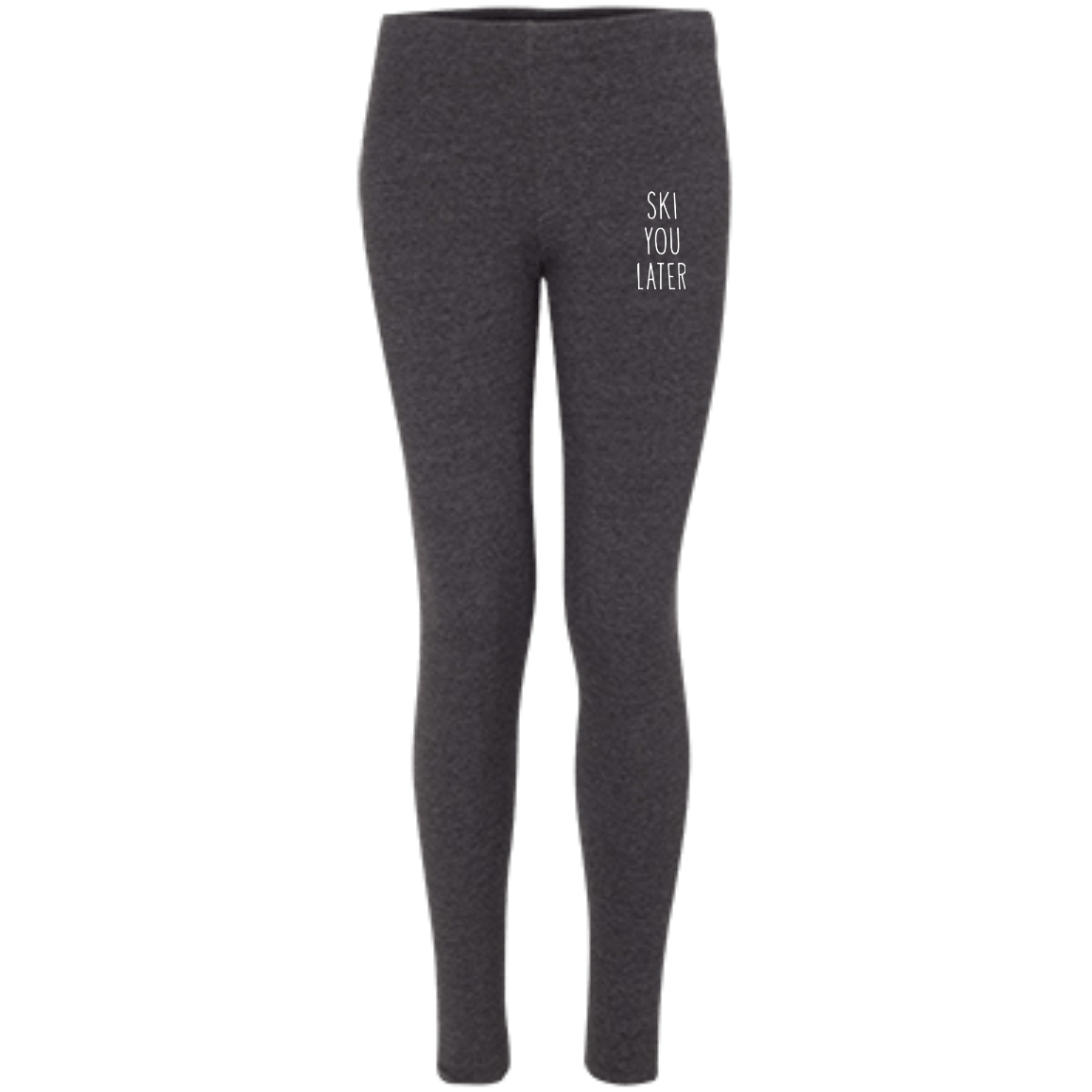 Ski You Later Women's Embroidered Leggings - Powderaddicts