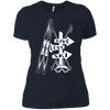 Live Love Ski White Next Level Ladies' Shirt - Powderaddicts