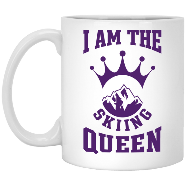 I Am The Skiing Queen White Mugs