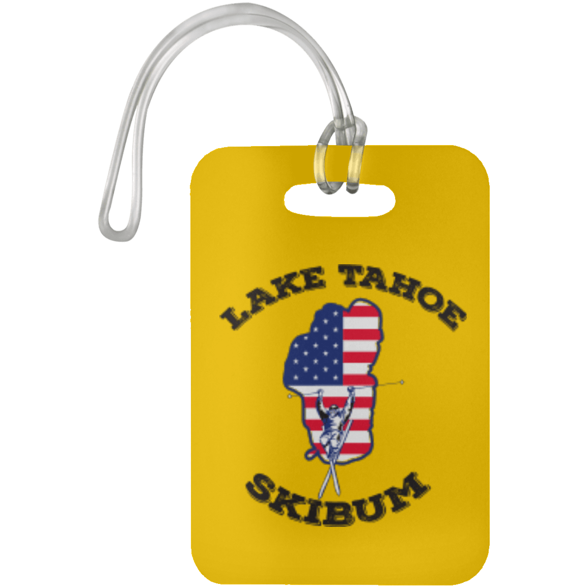 Lake Tahoe Luggage Bag Tag - Black Text - Powderaddicts