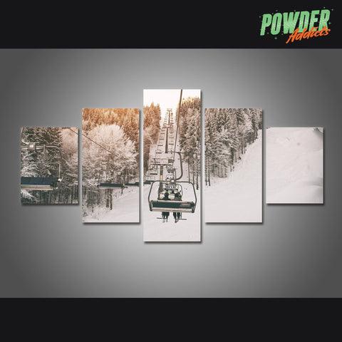 Chairway to Heaven 5 Piece Canvas - Powderaddicts