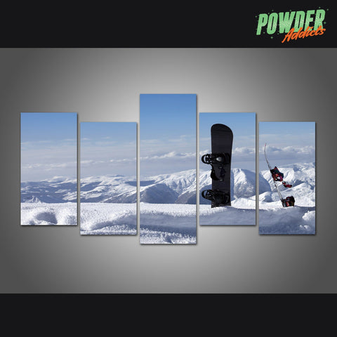 Pow Paradise 5 Piece Canvas - Powderaddicts