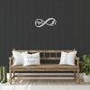 Infinity Mom Ski and Snowboard Metal Wall Art (🇺🇸 Made In The USA) - Powderaddicts