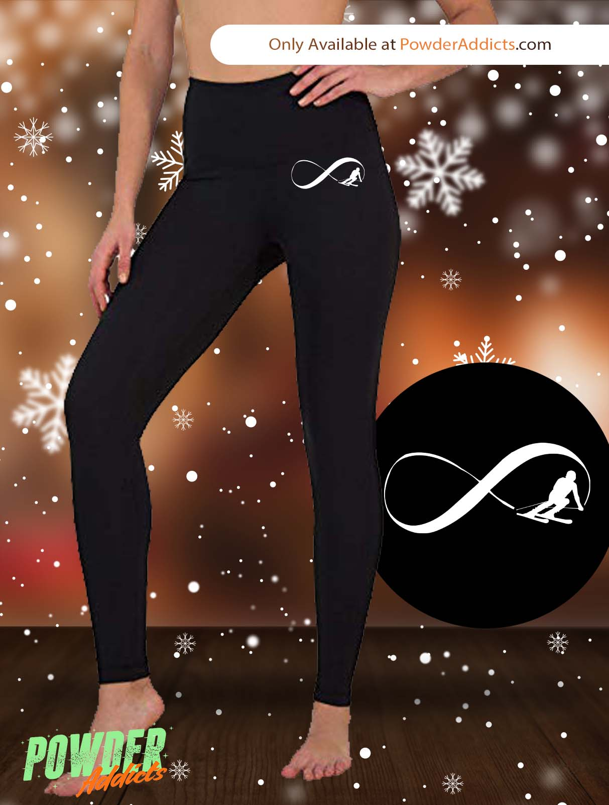Infinity Ski Women's Embroidered Leggings - Powderaddicts