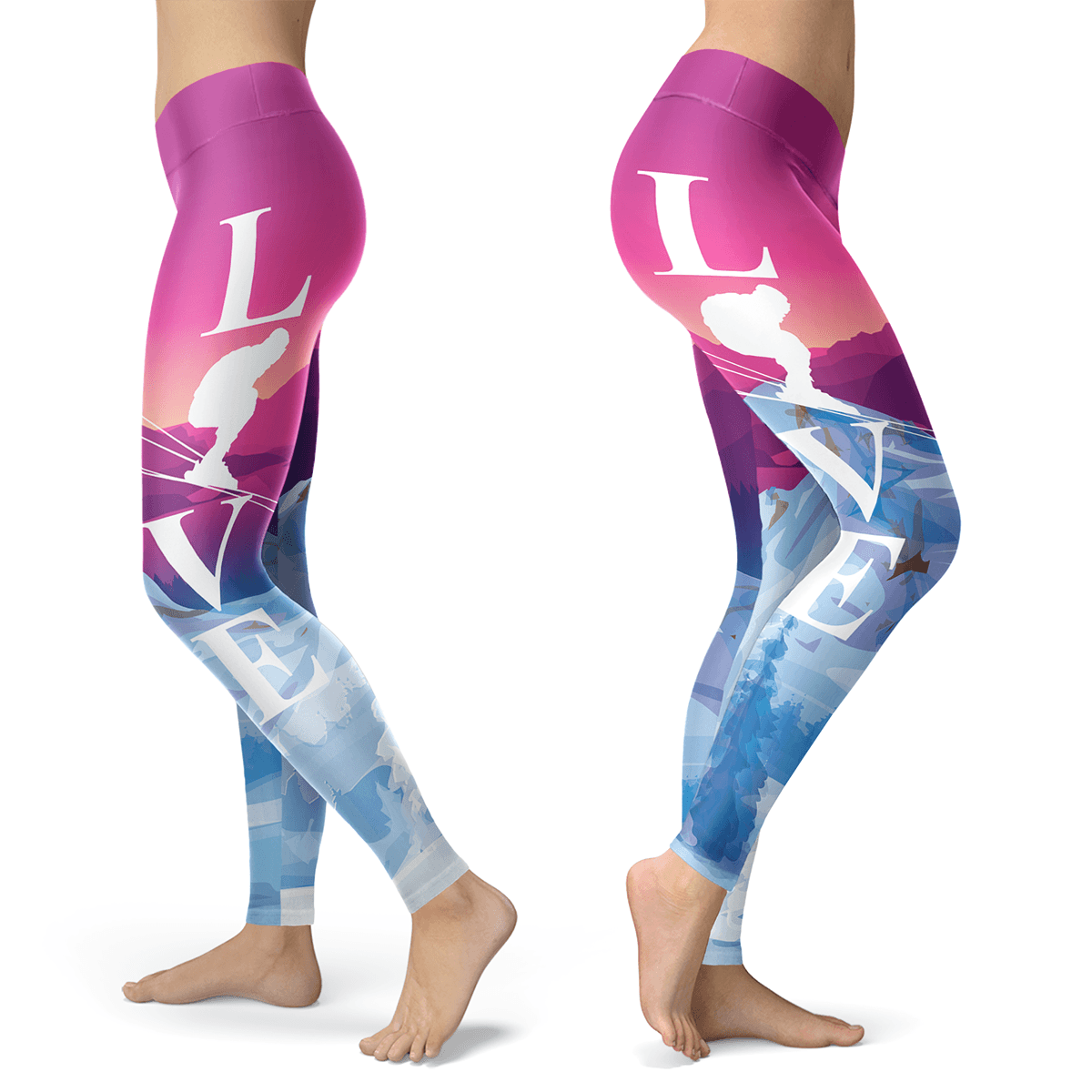 Love Ski Even At Sunset Leggings - Powderaddicts