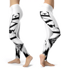 Love Ski All White Leggings - Powderaddicts
