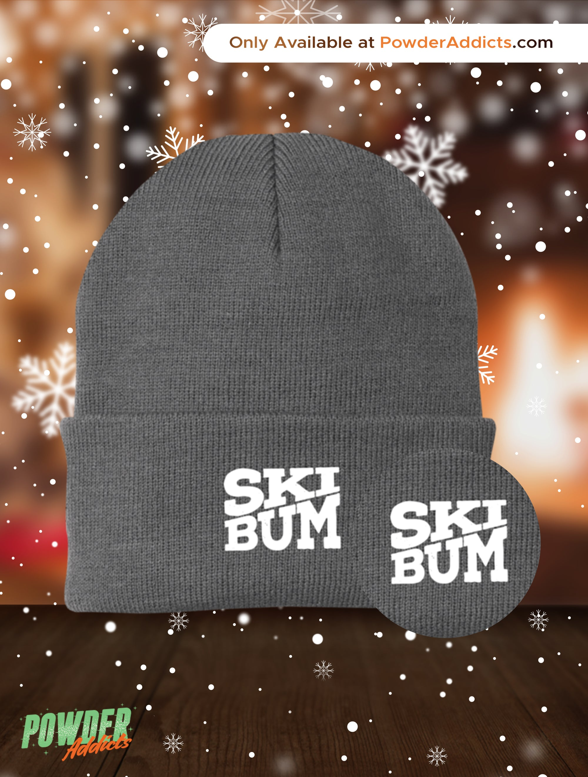 Ski Bum Knit Cap - Powderaddicts