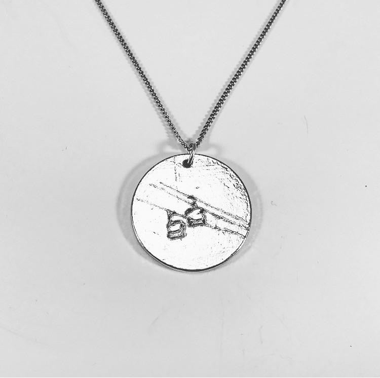 Chairlift Pendant - Handmade in the USA, Pewter - Powderaddicts