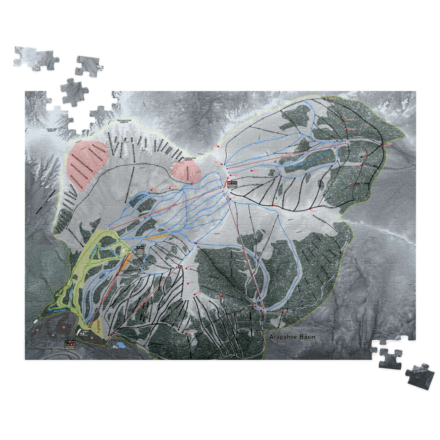 Arapahoe Basin, Colorado Ski Resort Map Puzzles