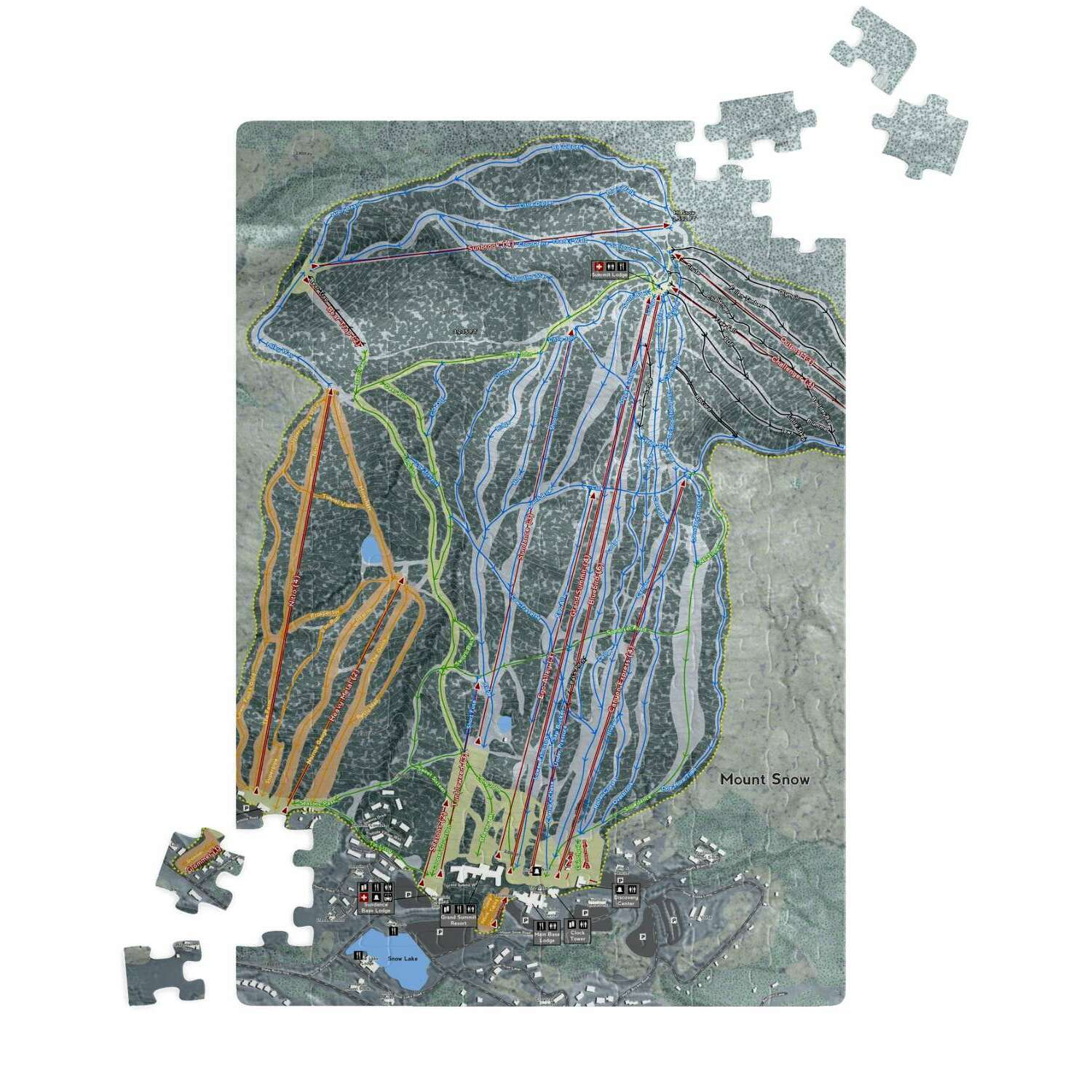 Mount Snow, Vermont Ski Resort Map Puzzle
