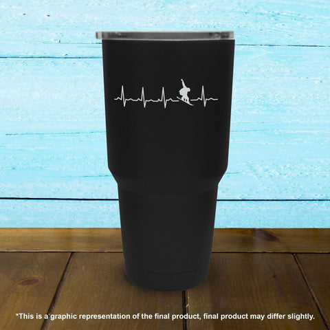 Snowboard Heartbeat - Tumbler - Powderaddicts