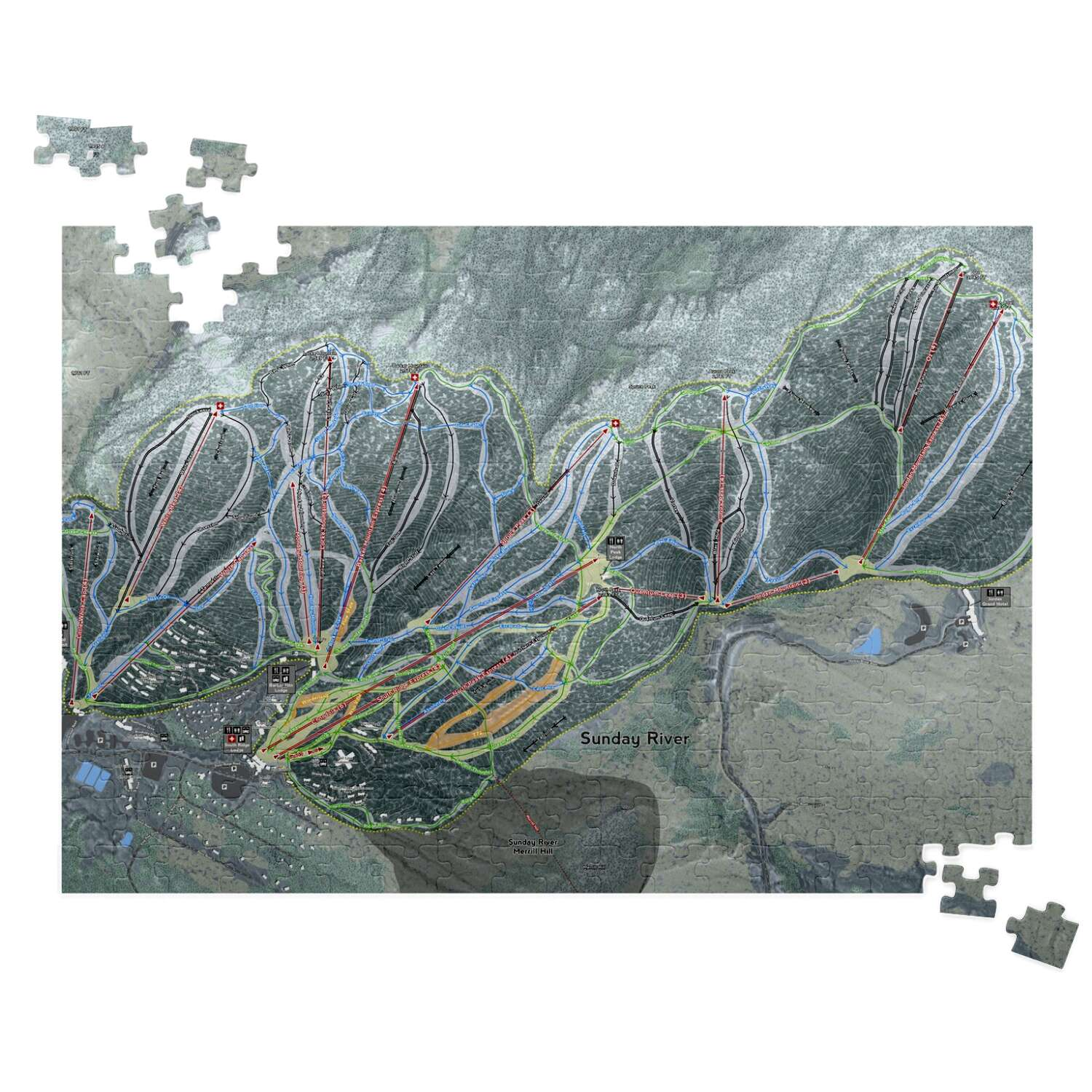 Sunday River Maine Ski Resort Map Puzzle