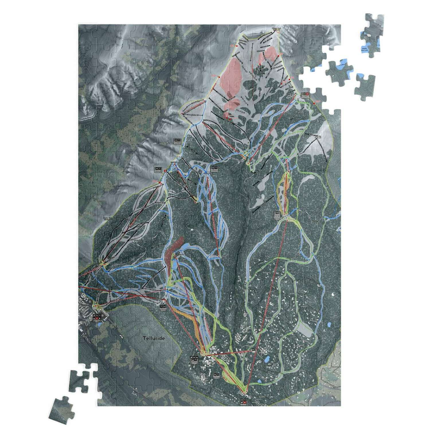 Telluride, Colorado Ski Resort Map Puzzle