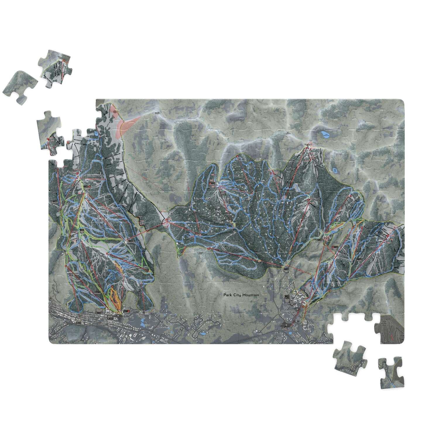 Park City, Utah Ski Resort Map puzzle