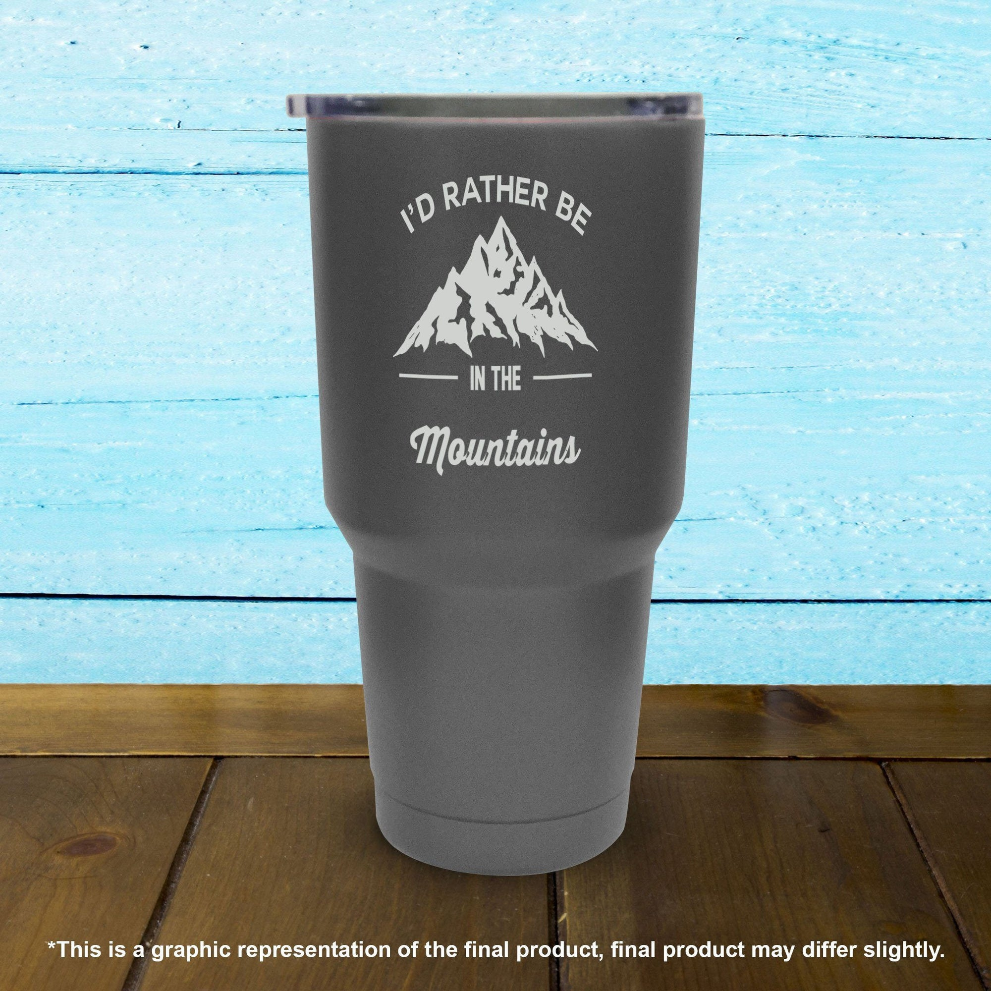 I'd Rather Be In The Mountains - Tumbler - Powderaddicts