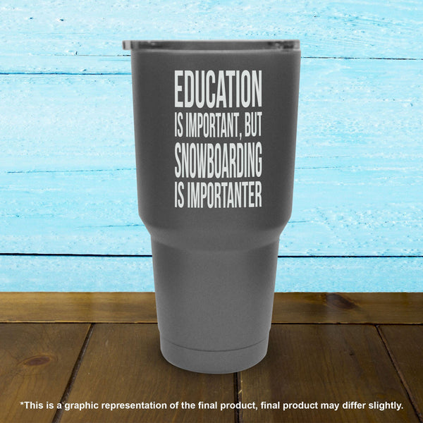 Education Is Important But Snowboarding Is Importanter - Tumbler
