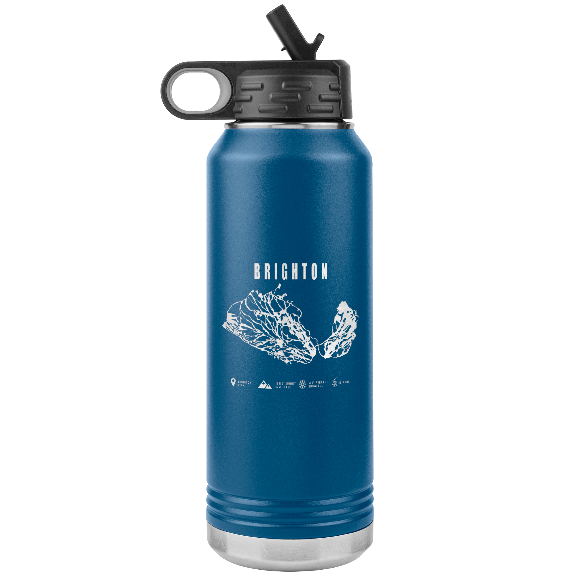 Brighton,Utah Ski-Resort Map 32oz Water Bottle Tumbler