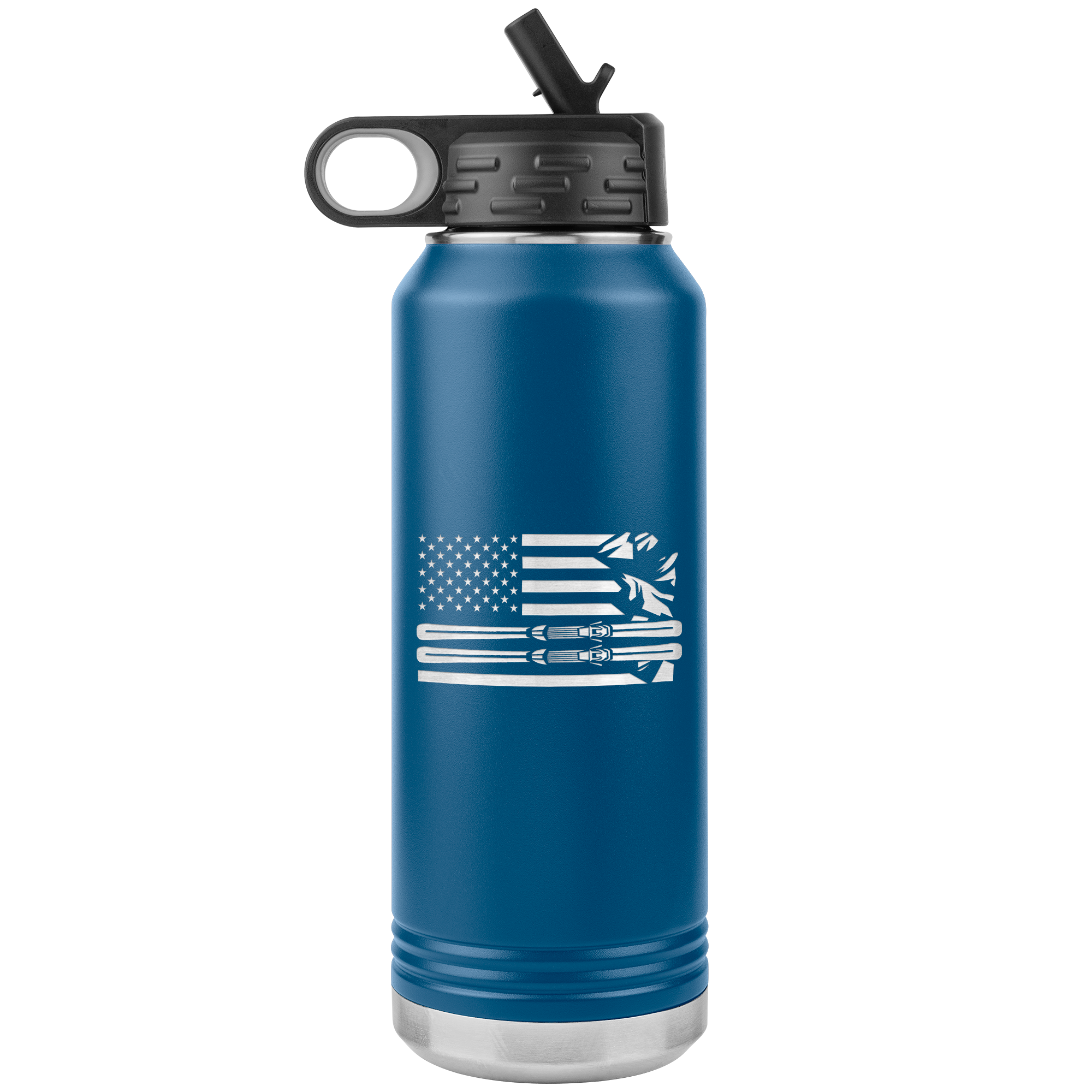 USA Ski Flag 32oz Water Bottle Tumbler