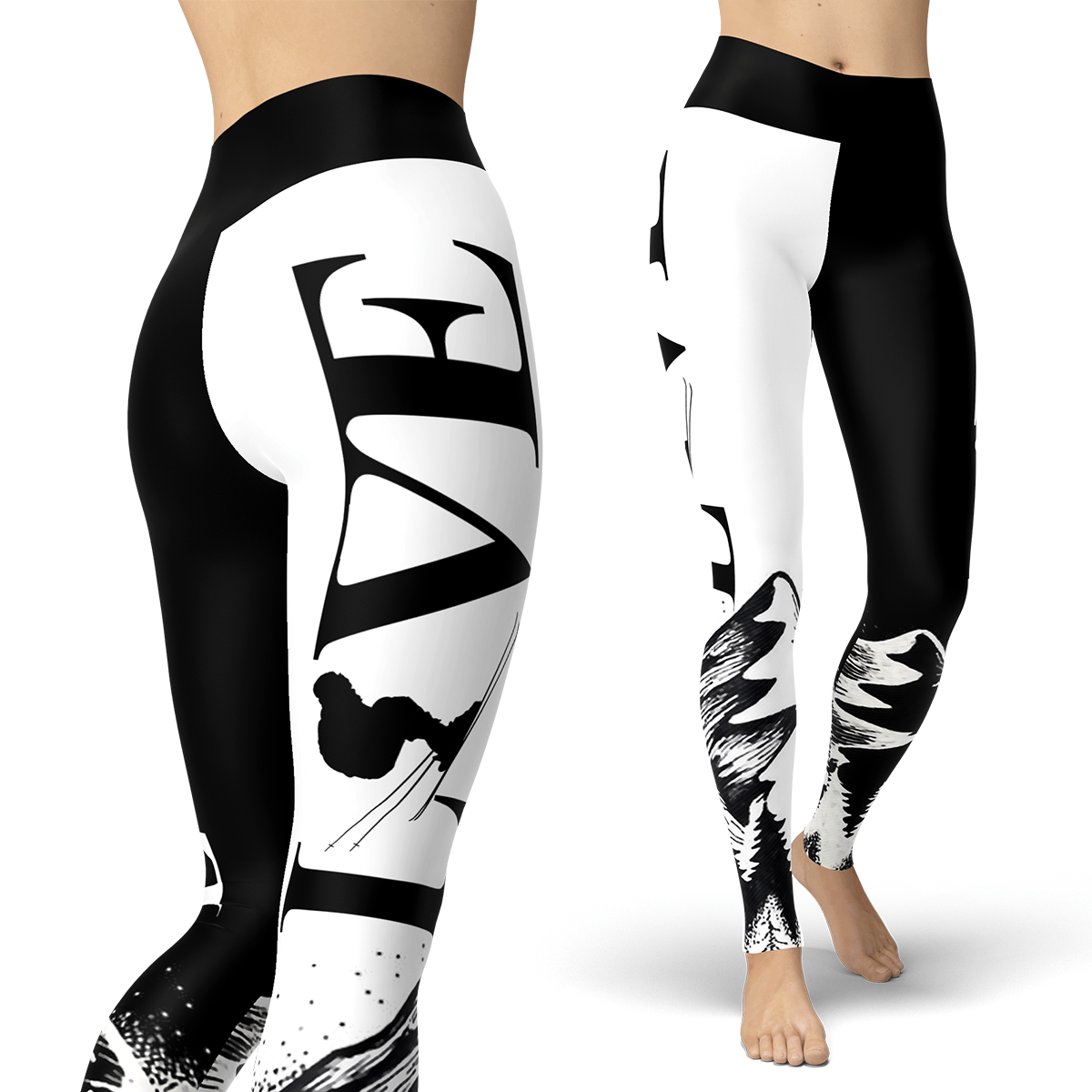 Love Skiing Leggings - Powderaddicts