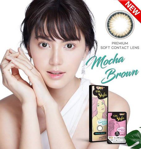 Lollipop Contact Lens On Style #Mocha Brown ชนิดรายเดือน