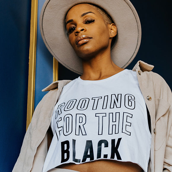 rooting for the black girl muscle shirt