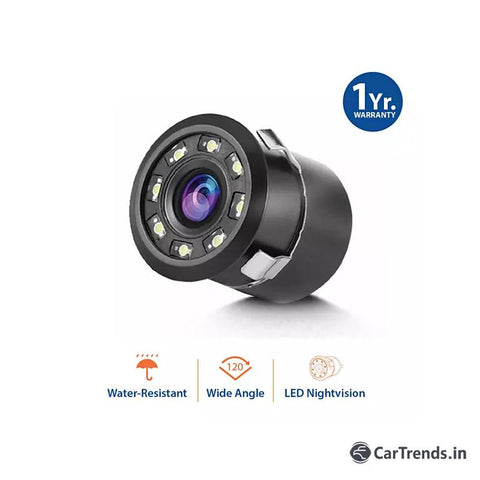 myTVS TRC-23 8 LED Night Vision Car Rear View Camera (Black) for all cars