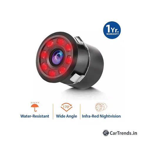 myTVS TRC-70 Car Rear View 8 LED Infrared Night Vision Parking Camera