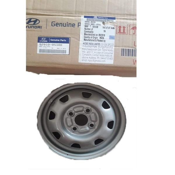 Hyundai Santro Silver Wheel Rim 5291005100 - CarTrends