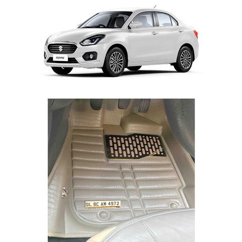 Maruti Dzire Personalised 5D Car Mat