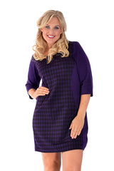2024 Purple Dogtooth Hourglass Dress