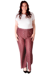 Pleated Polka Dot Trousers