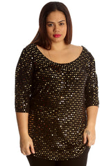 1000 Rust Dot Foil Smock Top