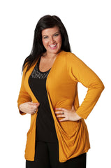 3001 Gold Drop Pocket Cardigan
