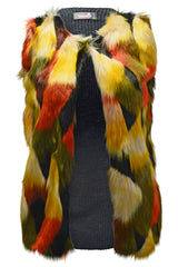 3200 Yellow Faux Fur Gilet