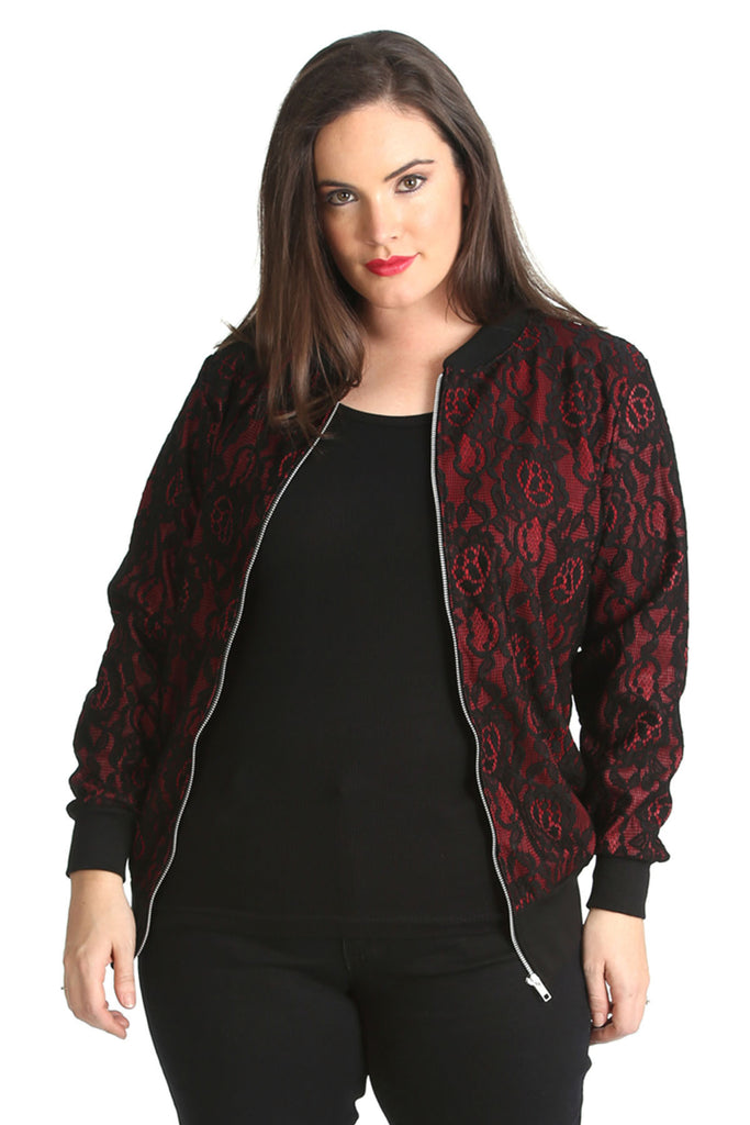 Bonded Lace Lined Bomber Jacket