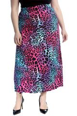 Multi Leopard Print Skirt