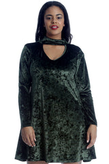 1501 Gold Plain Velvet Swing Top