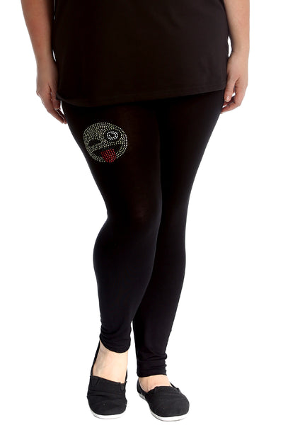 Emoji Stud Full Length Leggings