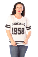 1337 White Chicago 1958 T-Shirt