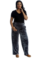6087 Khaki Plain Velvet Trousers