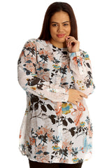 Jungle Print Chiffon Shirt