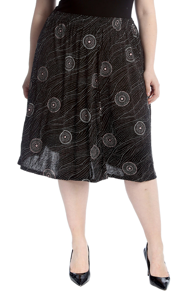 Abstract Circle Print Skirt