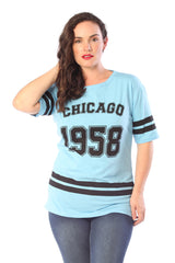 1337 Aqua Chicago 1958 T-Shirt